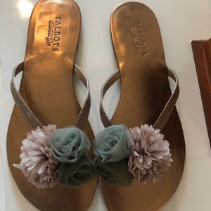 Talbots flower floral sandals